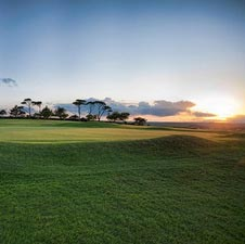 Bigbury Golf Club, golf court, sunset
